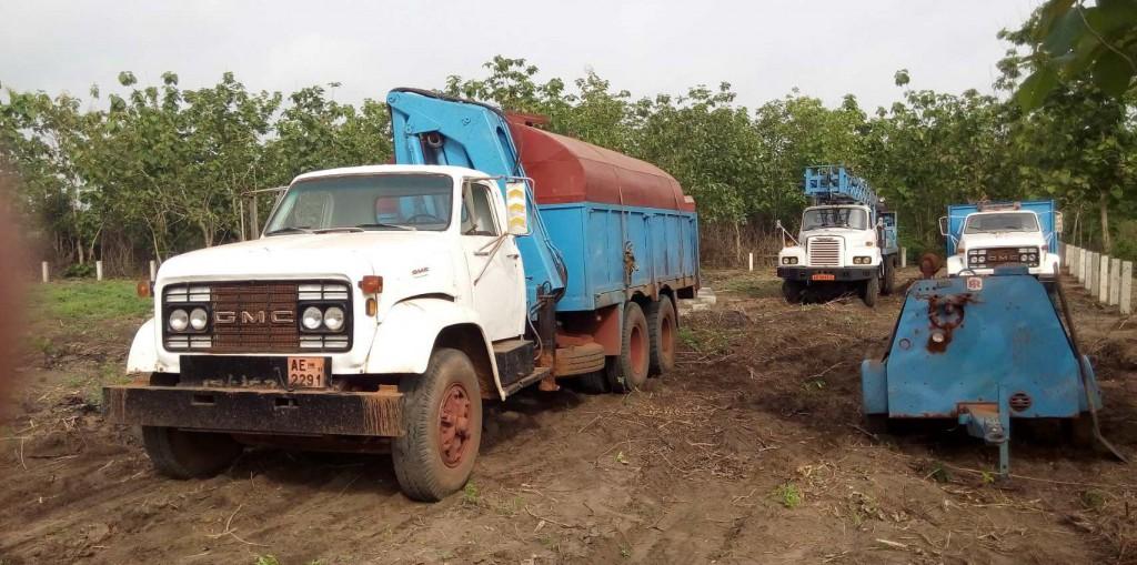 camions de forage