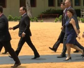 François Hollande en visite au Bénin