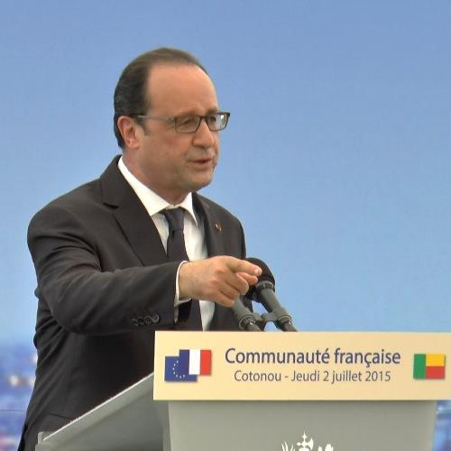 François Hollande Conférence Bénin