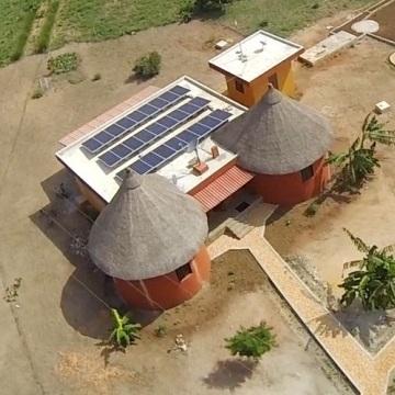Vue équipement solaire