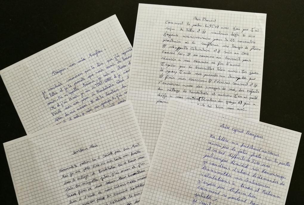 Lettres écoliers béninois